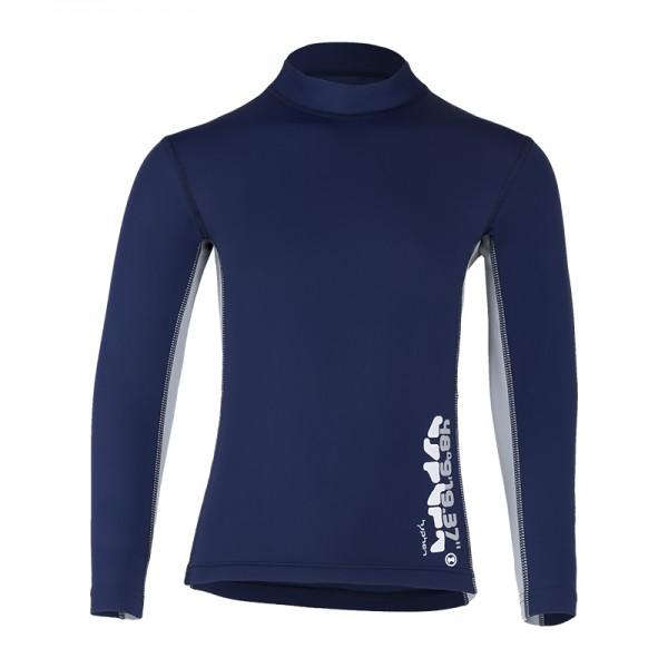 UV Sonnenschutz Kurzarmshirt 'coo blue iris' für Kinder mit UPF 80 von hyphen