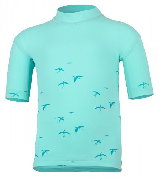 Kinder Kurzarmshirt 'birdy caribic' mit UPF 80 von Hyphen