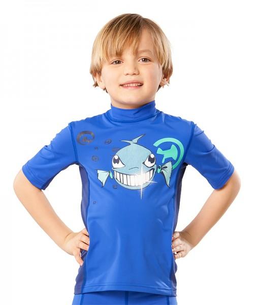 UV Sonnenschutz Kurzarmshirt 'dynamite diamond cobalt' für Kinder mit UPF 80 von hyphen